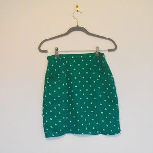 Alythea Green with White Polka Dots Skirt Small